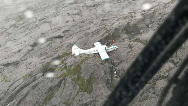 All 11 people on board a plane survived a crash in Ketchikan, Alaska, on Tuesday, July 10, 2018. (U.S. Coast Guard)