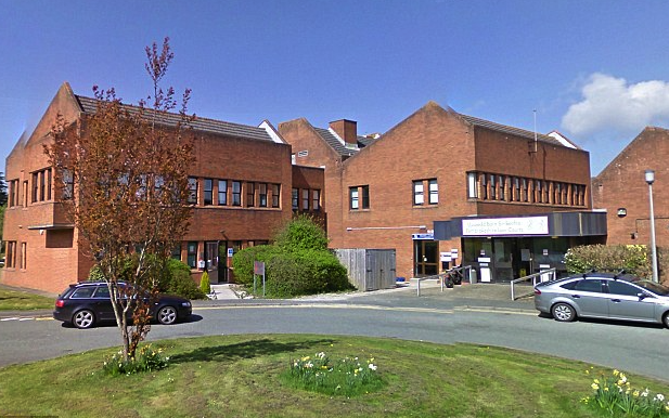 The incident occurred at Haverford West Magistrates Court (Picture: Google)