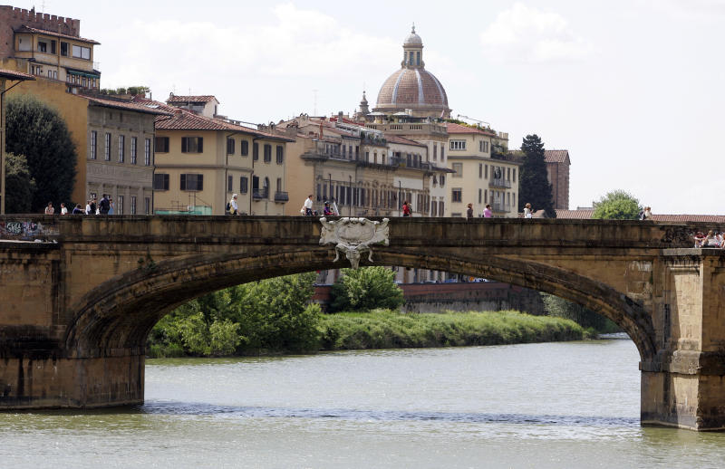 The man fell from the hotel balcony in Florence after reportedly trying to retrieve his headphones