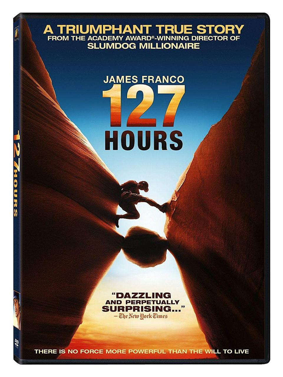 """<p><a class=""""link rapid-noclick-resp"""" href=""""https://www.amazon.com/127-Hours-James-Franco/dp/B004Q3SGNK/ref=sr_1_1?dchild=1&keywords=127+hours&qid=1614190338&sr=8-1&tag=syn-yahoo-20&ascsubtag=%5Bartid%7C10067.g.15907978%5Bsrc%7Cyahoo-us"""" rel=""""nofollow noopener"""" target=""""_blank"""" data-ylk=""""slk:Watch Now"""">Watch Now</a> </p><p>James Franco stars as hiker Aron Ralston in this heart-wrenching true story about an adventurer who finds himself trapped under a boulder for five days. Based on Ralston's memoir, the film chronicles his agonizing decision to amputate his own arm in order to survive.</p>"""