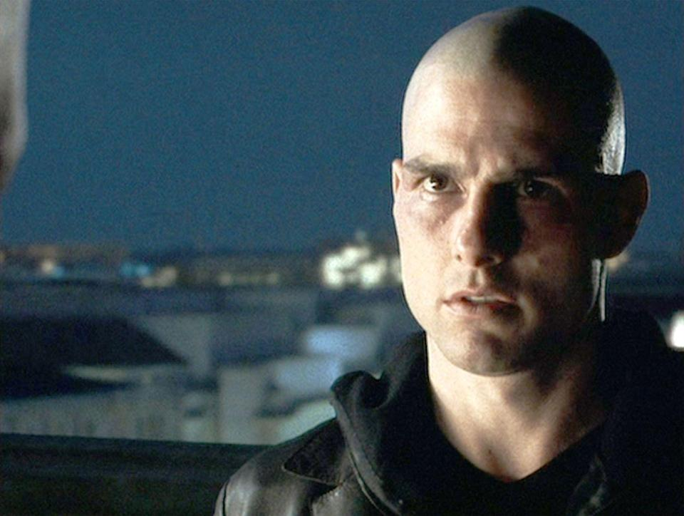 <p>It's a huge moment in <em>Minority Report </em>when Tom Cruise's character reveals his shaven head — and a bald cap just wouldn't do. So, Cruise decided to shave his head in real life. </p>