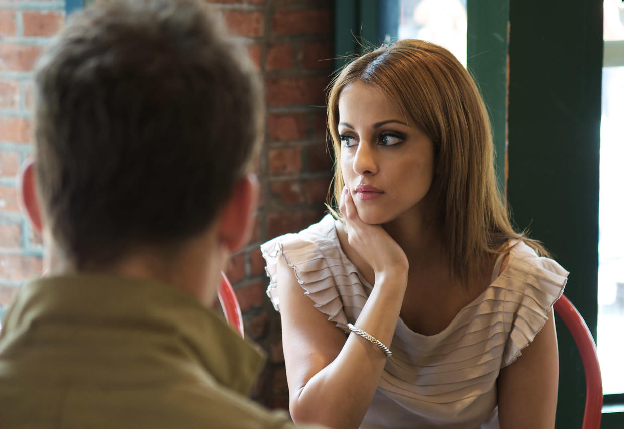 Bad table manners is the biggest dinner date turn-off. (Getty Images)