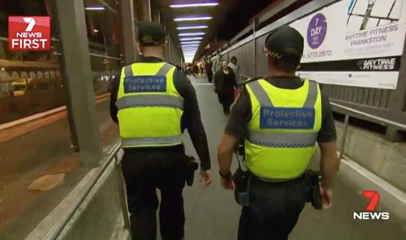 Matthew Guy says crime is rising on Melbourne train platforms. Source: 7 News