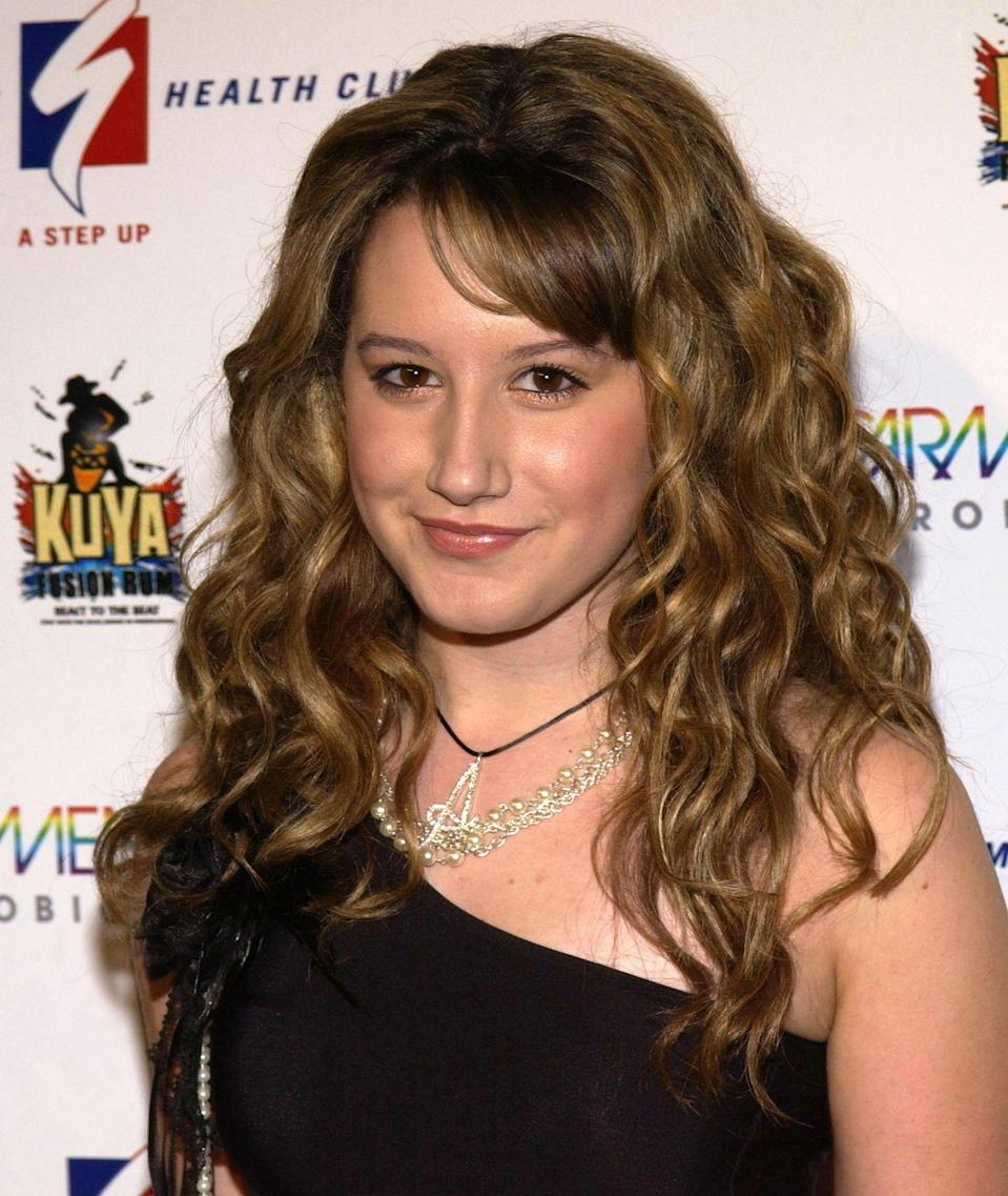 <p>Before Ashley Tisdale was a Disney star on <em>High School Musical </em>and <em>The Suite Life of Zack & Cody</em>, the actress sported brunette hair and styled it with voluminous curls. </p>