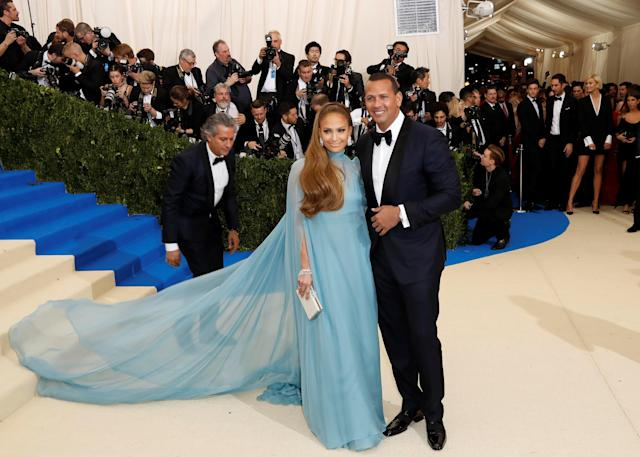 Metropolitan Museum of Art Costume Institute Gala - Rei Kawakubo/Comme des Garcons: Art of the In-Between - Arrivals - New York City, U.S. - 01/05/17 - Jennifer Lopez and Alex Rodriguez. REUTERS/Lucas Jackson TPX IMAGES OF THE DAY