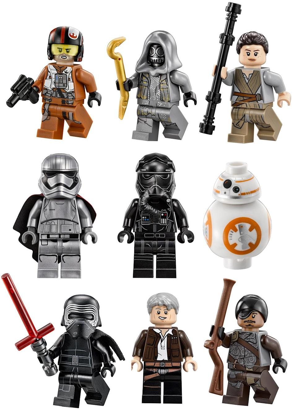 <p>Here is a sampling of Lego's new 'Force Awakens' minifigures.</p>