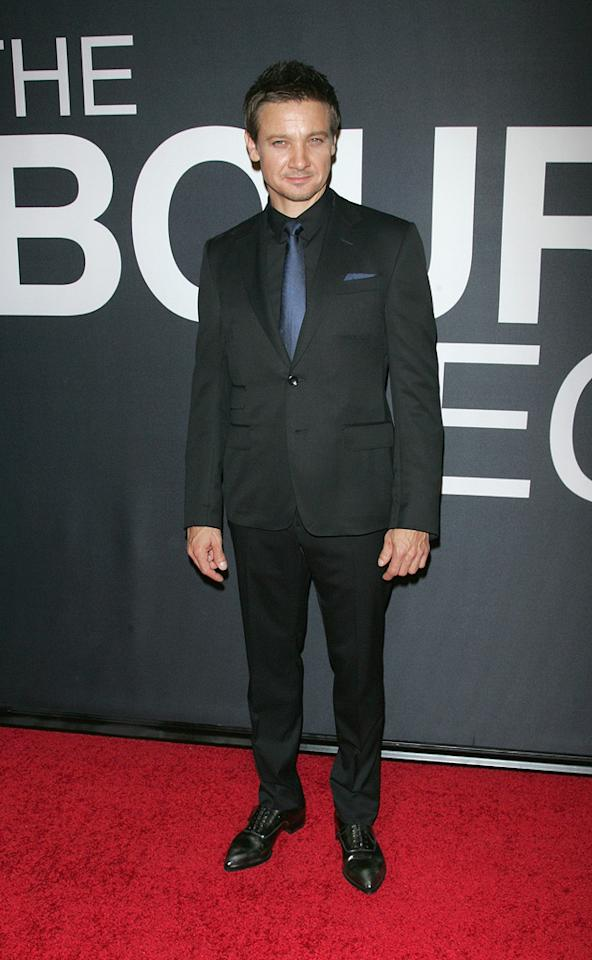 "Jeremy Renner attends the New York City premiere of ""The Bourne Legacy"" on July 30, 2012."