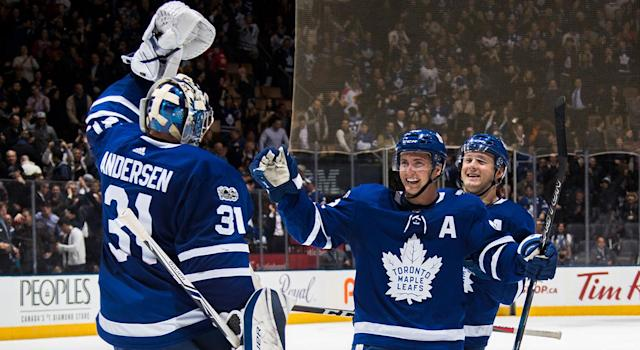 The Maple Leafs were red-hot last week, going 3-0-0. (Mark Blinch/NHLI via Getty Images)