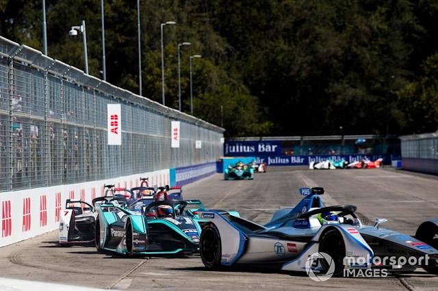 "Felipe Massa, Venturi Formula E, Venturi VFE05 leadsMitch Evans, Jaguar Racing, Jaguar I-Type 3, Jose Maria Lopez, GEOX Dragon Racing, Penske EV-3 <span class=""copyright"">Sam Bloxham / Motorsport Images</span>"