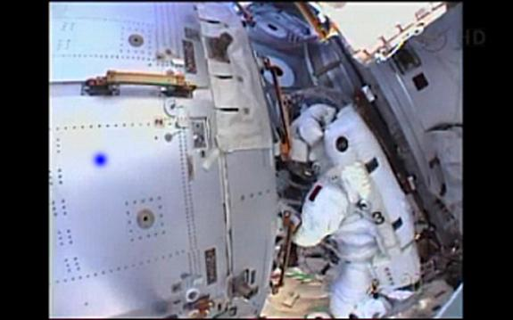 NASA astronaut Chris Cassidy and Italian astronaut Luca Parmitano planned to spend more than six hours spacewalking outside the International Space Station on July 16, 2013. But NASA cut the spacewalk short after just an hour due to a water bui