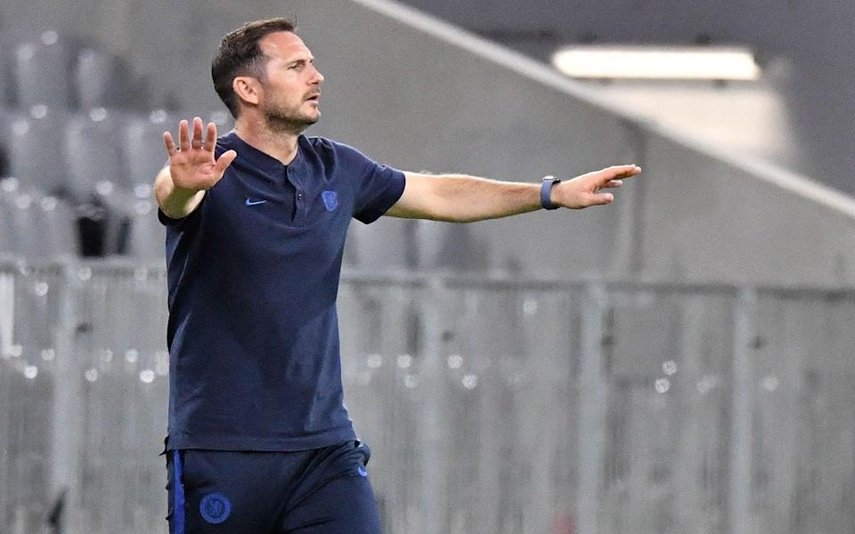 Chelsea head coach Frank Lampard on the sidelines at the Allianz Arena - Shutterstock