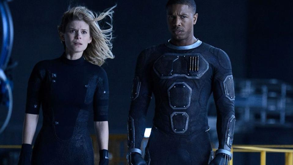 Kate Mara played Sue Storm in Fantastic Four, with Michael B Jordan as her brother, Johnny. (Image by 20th Century Fox)