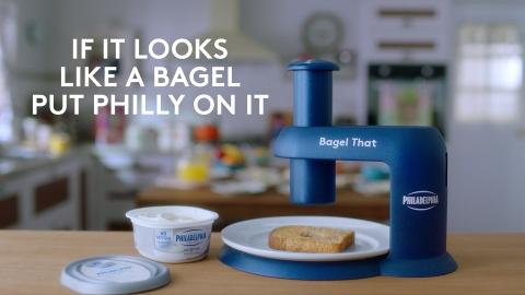 """Philadelphia® Cream Cheese Says Anything Can Be Turned Into a Bagel With """"Bagel That"""" Device"""