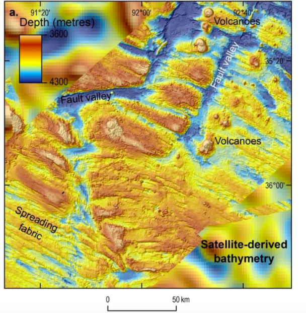 Map views of the sea floor were obtained from mapping data collected during the first phase of the search for MH370 (Reuters)