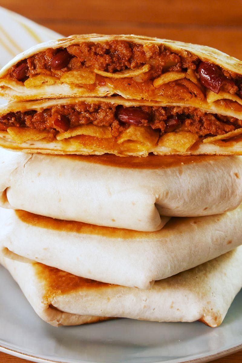 """<p>This crunchwrap is pure genius, and we're not sure how we didn't think of it sooner.</p><p>Get the <a href=""""https://www.delish.com/uk/cooking/recipes/a31279355/chili-cheese-crunchwrap-recipe/"""" rel=""""nofollow noopener"""" target=""""_blank"""" data-ylk=""""slk:Chilli Cheese Crunchwrap"""" class=""""link rapid-noclick-resp"""">Chilli Cheese Crunchwrap</a> recipe.</p>"""