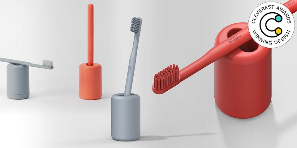 Usetool Toothbrush by Jiyoun Kim Studio for Usetool Company This toothbrush holder is so much more than storage. It's also a sterilizer, cleaning and drying the accompanying toothbrush between uses, and a clock, timing your three minutes of brushing. usetoolcompany.com