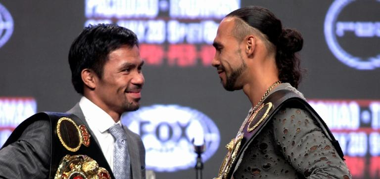 Manny Pacquiao faces a younger, unbeaten opponent when he takes on Keith Thurman in Las Vegas on Saturday (AFP Photo/John GURZINSKI)