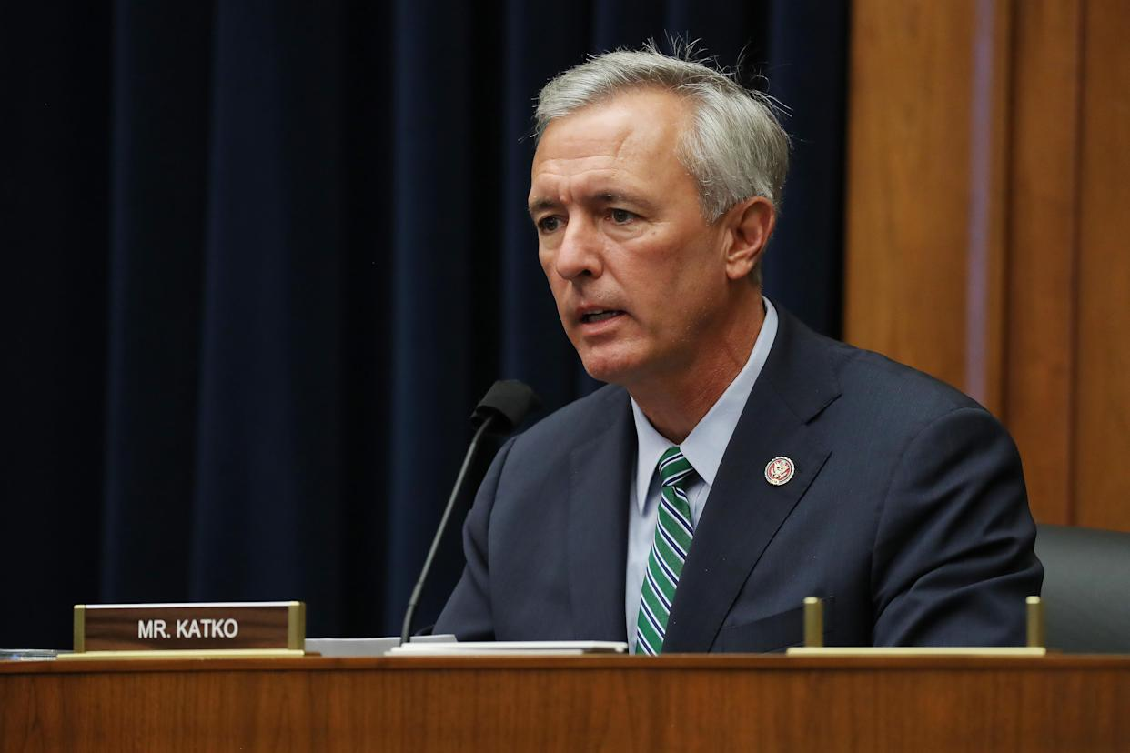 Representative John Katko, a Republican from New York, speaks during a House Homeland Security Committee security hearing in Washington, D.C., U.S., on Thursday, Sept. 17, 2020. (Chip Somodevilla/Getty Images/Bloomberg via Getty Images)