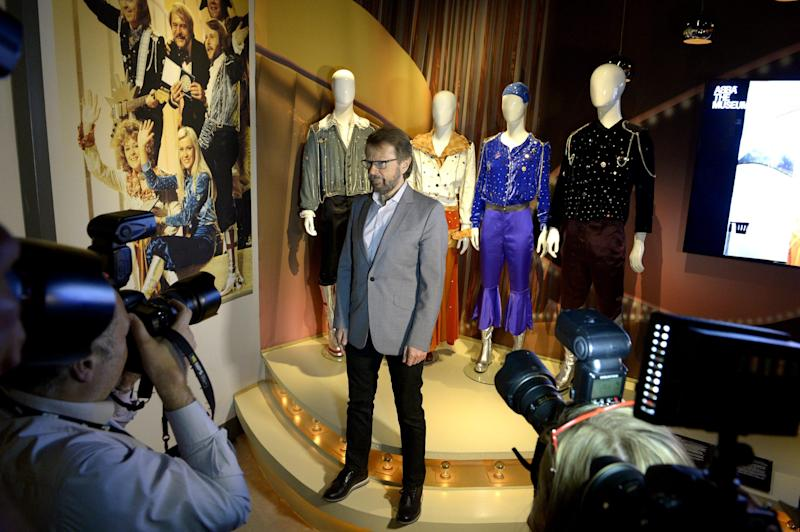 "Bjorn Ulvaeus, former member of the Swedish music group ABBA, is photographed during a press preview of 'ABBA The Museum' at the Swedish Music Hall of Fame in Stockholm, Sweden, Monday May 6, 2013. A museum opens in Stockholm on Tuesday to show off band paraphernalia, including the helicopter featured on the cover of their ""Arrival"" album, a star-shaped guitar and dozens of glitzy costumes the Swedish band wore at the height of its 1970s fame. (AP Photo/Scanpix Sweden/Janerik Henriksson) SWEDEN OUT"