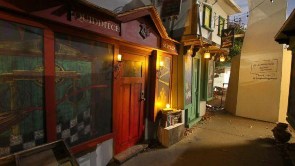 PHOTO: Jon Chambers of Seattle teamed up with his neighbors to build a replica of Harry Potter's Diagon Alley in his driveway. (Jon Chambers)