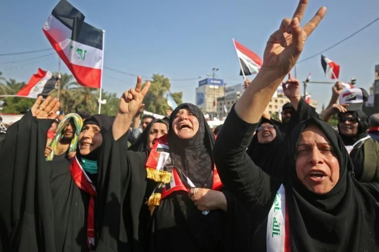 The demonstrations broke out on October 1 in anger over corruption and unemployment but have morphed into demands that the entire ruling system be upended (AFP Photo/AHMAD AL-RUBAYE)