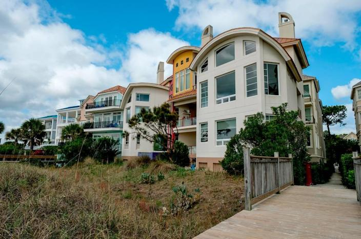 A boardwalk view of homes along Bradley Circle on Thursday, April 1, 2021 on Hilton Head Island where more than half the homes are short-term rentals.