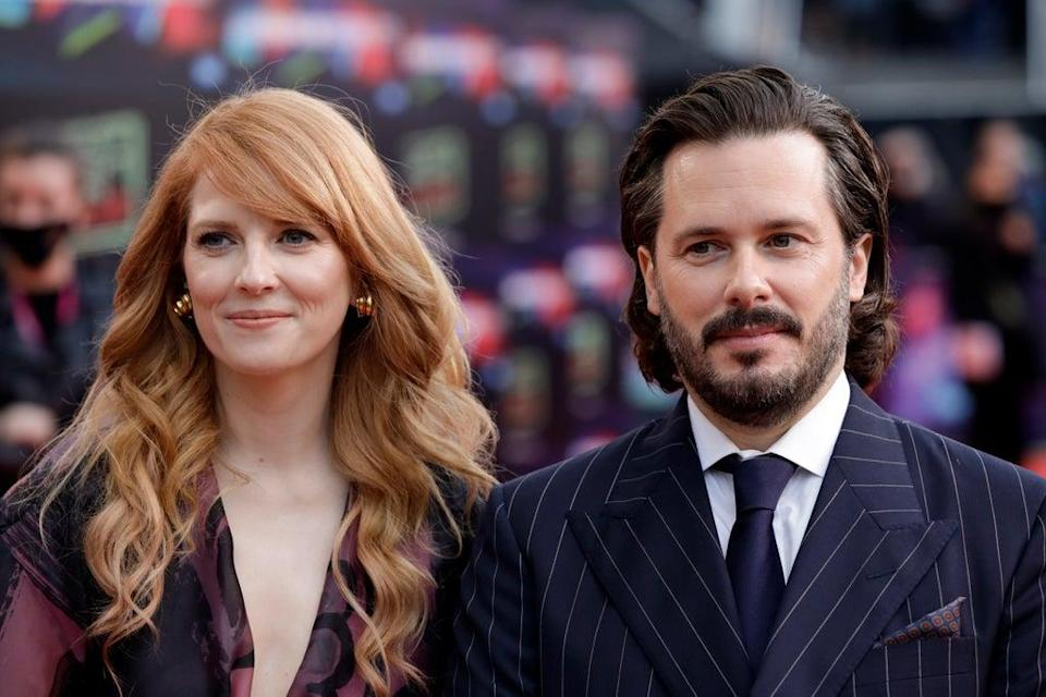 Last Night in Soho screenwriter Krysty Wilson-Cairns and director Edgar Wright  (Getty Images for BFI)
