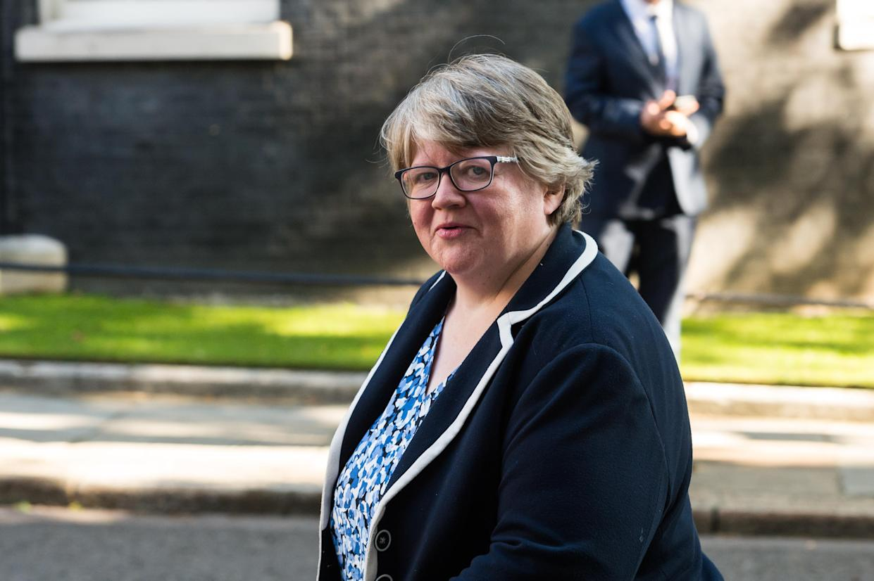 Secretary of State for Work and Pensions Therese Coffey arrives in Downing Street in central London to attend a Cabinet meeting as Parliament returns after summer recess amid the ongoing Coronavirus pandemic on 01 September, 2020 in London, England. (Photo by WIktor Szymanowicz/NurPhoto via Getty Images)