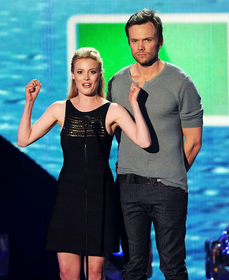 """BEST: Greendale Community College — Leave it to Britta and Jeff (we miss you guys!) to be the two presenters that actually sell their bit. They kind of played their """"<a href=""""/community/show/44719"""">Community</a>"""" characters — Gillian Jacobs was a little awkward and off, and Joel McHale was angry and sarcastic. They committed, and it worked. Even when they're presenting an award, you can feel that they have fun together. Even better? McHale's off-the-cuff commentary: """"I'm so nervous."""" And when """"<a href=""""/vampire-diaries/show/44270"""">Vampire Diaries</a>"""" won: """"I can't believe it!"""" It was like a five-second episode of """"<a href=""""/the-soup/show/34007"""">The Soup</a>."""""""