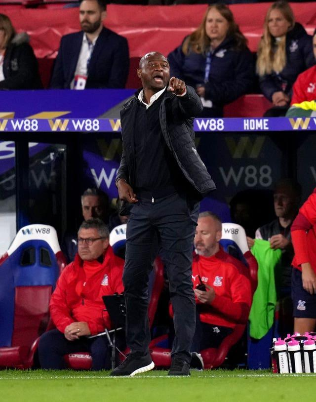 Patrick Vieira's Palace conceded late on