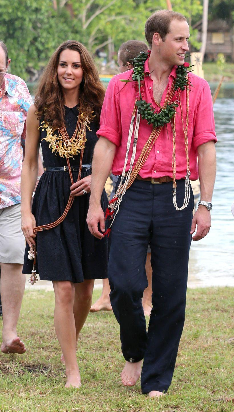 <p>The royal men don't often branch out into the pink spectrum, but Prince William made an argument from why they should during a visit to Tuvanipupu Island with his wife Kate in 2012.</p>
