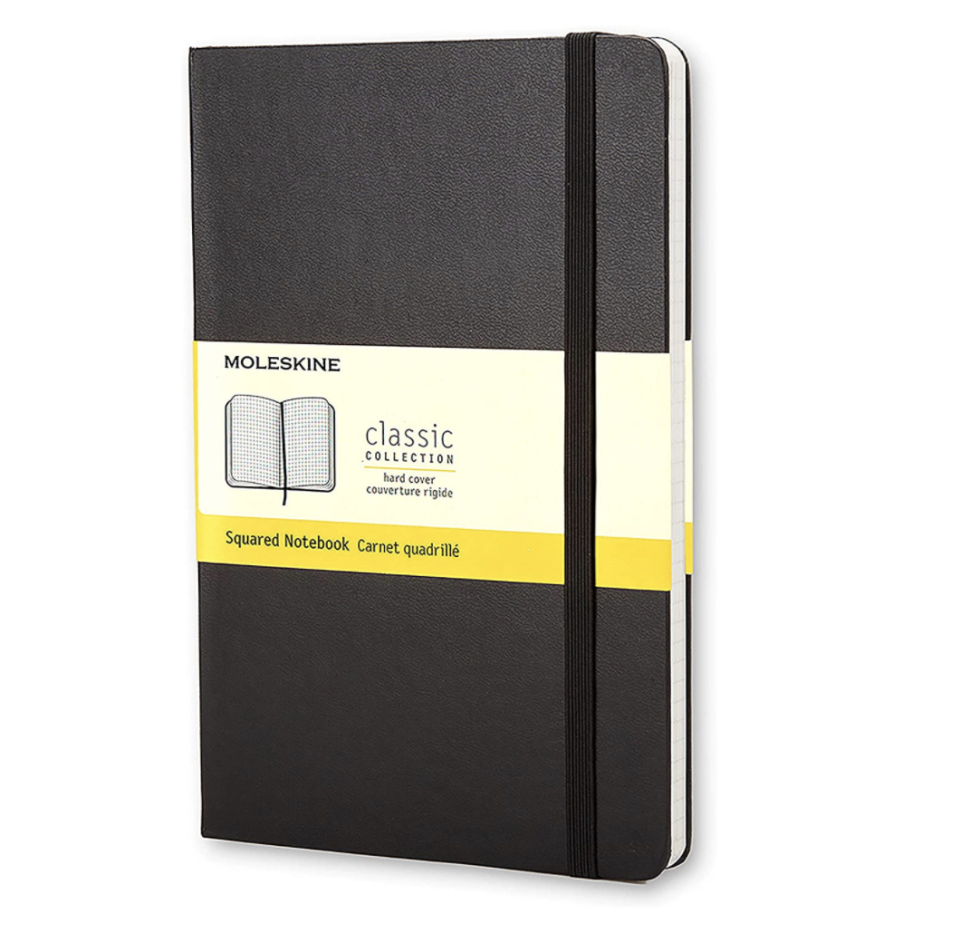 """<p><strong>Moleskine</strong></p><p>amazon.com</p><p><strong>$19.95</strong></p><p><a href=""""https://www.amazon.com/dp/8862930046?tag=syn-yahoo-20&ascsubtag=%5Bartid%7C2139.g.37546941%5Bsrc%7Cyahoo-us"""" rel=""""nofollow noopener"""" target=""""_blank"""" data-ylk=""""slk:BUY IT HERE"""" class=""""link rapid-noclick-resp"""">BUY IT HERE</a></p><p>Moleskine notebooks are an easy, inexpensive gift to give anyone who needs a place to store their ideas and channel creativity. A graph-lined one is perfect for engineers. </p>"""