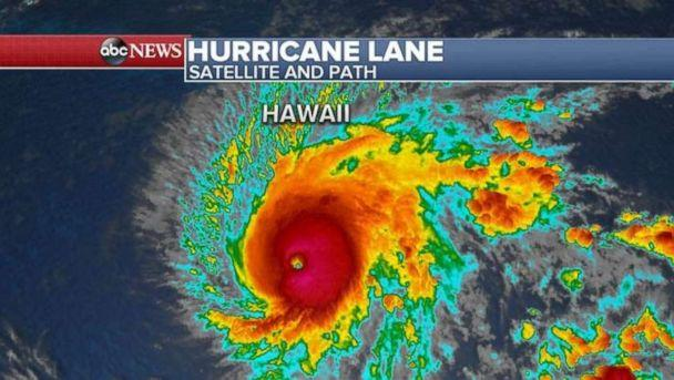 Hurricane Lane is a Category 5 storm on Wednesday morning. (ABC News)