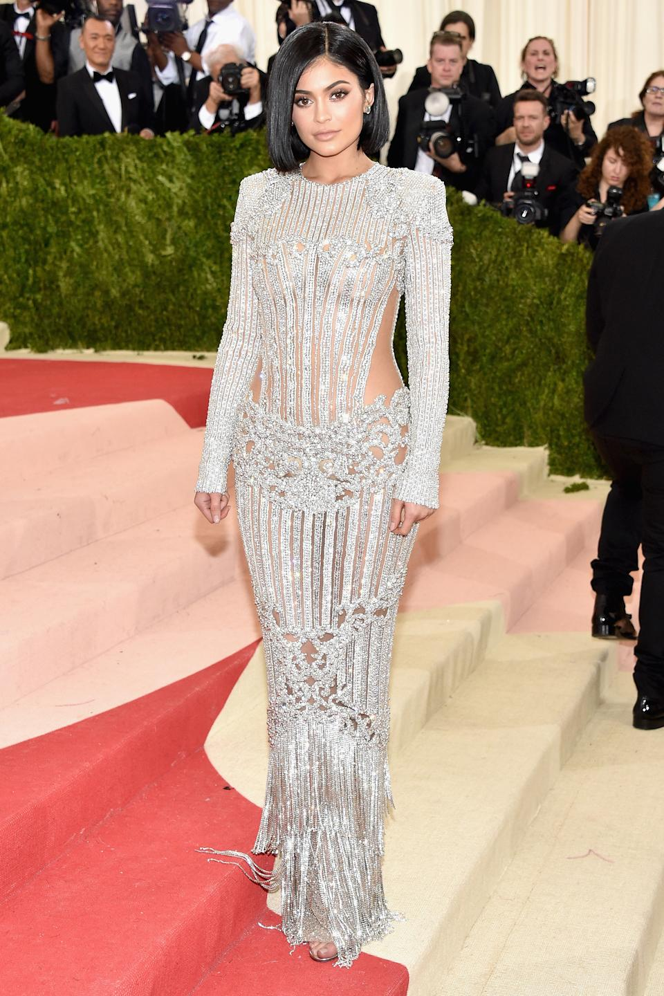Kylie Jenner attends the 2016 Met Gala