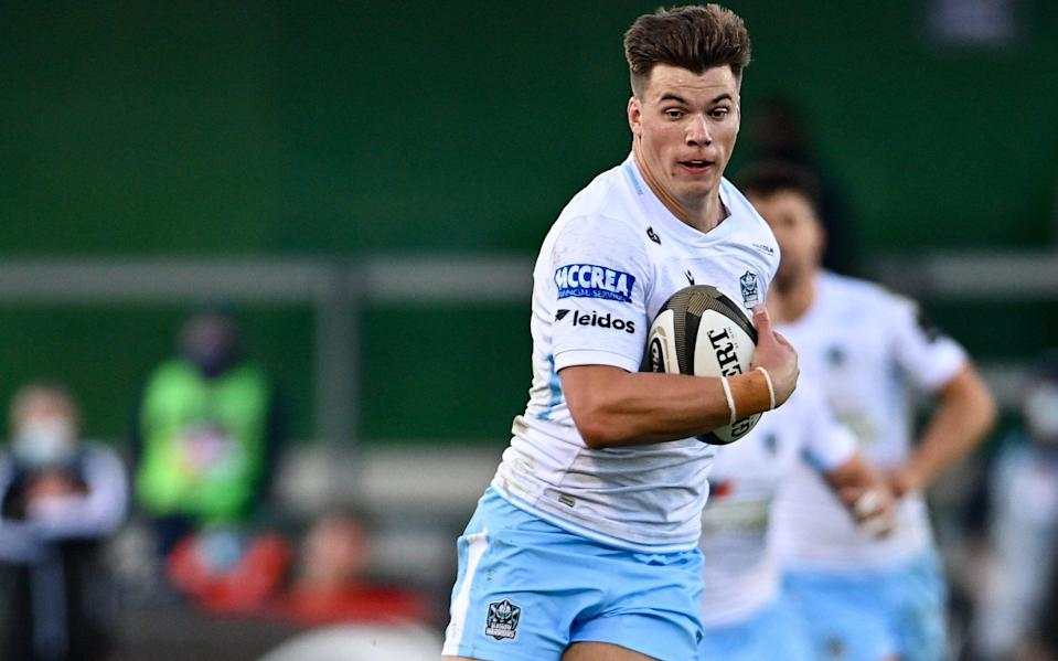 Huw Jones in action for Glasgow - GETTY IMAGES