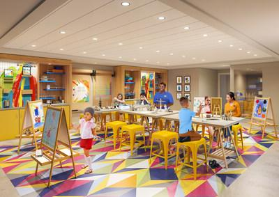 The award-winning Adventure Ocean program will be reimagined from top to bottom on board Allure of the Seas. Younger kids can choose their own immersive adventures across entirely new areas, including Workshop. Workshop will offer a variety of activities ranging from hands-on art, science and tech fun.