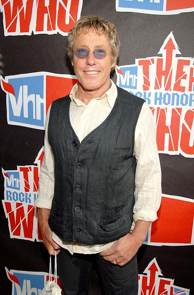 "Who frontman Roger Daltrey was all smiles before the star-studded show commenced. Frank Micelotta/<a href=""http://www.gettyimages.com/"" target=""new"">GettyImages.com</a> - July 12, 2008"
