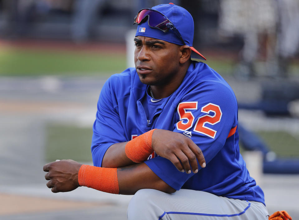Yoenis Cespedes' amended deal could save the Mets $23.5 million. (AP Photo/Julie Jacobson, File)