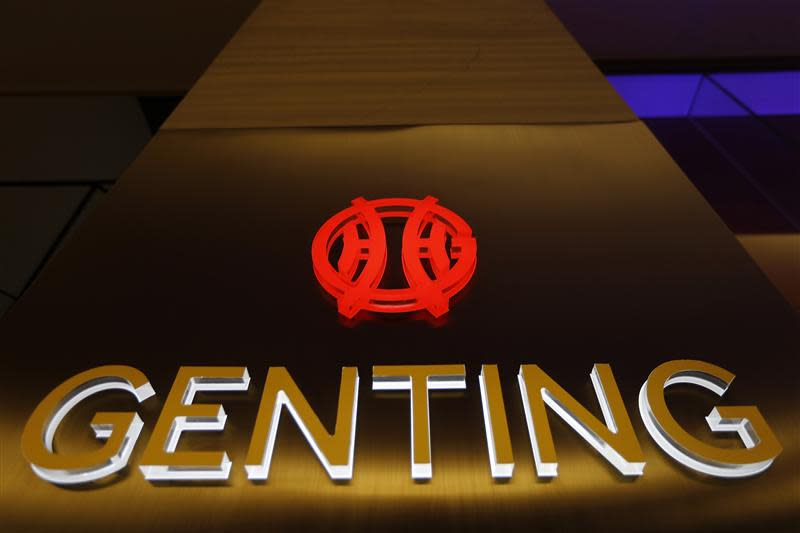 The logo of Genting Malaysia Berhad is seen at Genting Highlands at the state of Pahang outside Kuala Lumpur