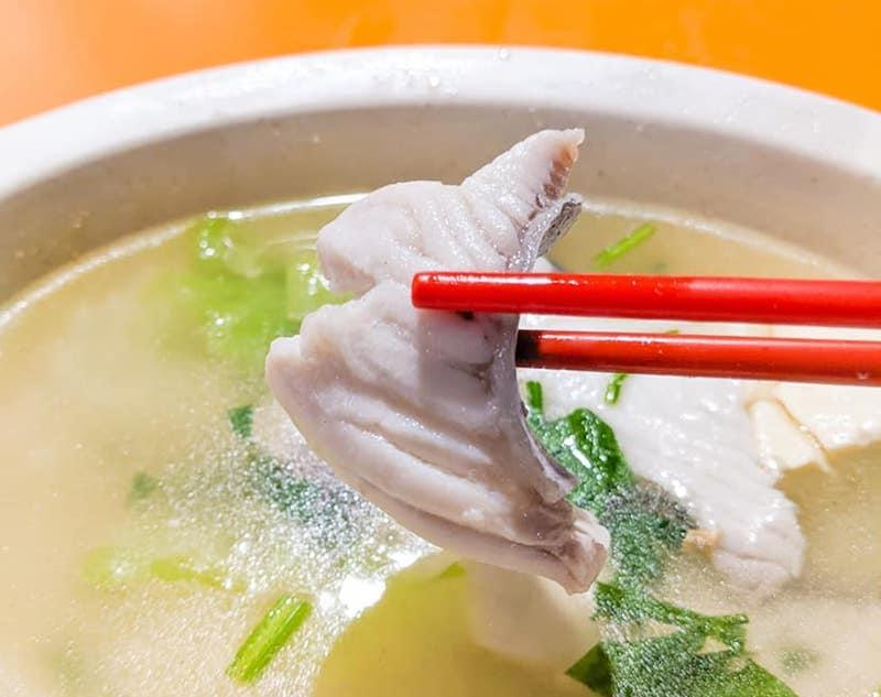 A bowl of Sliced Fish Soup