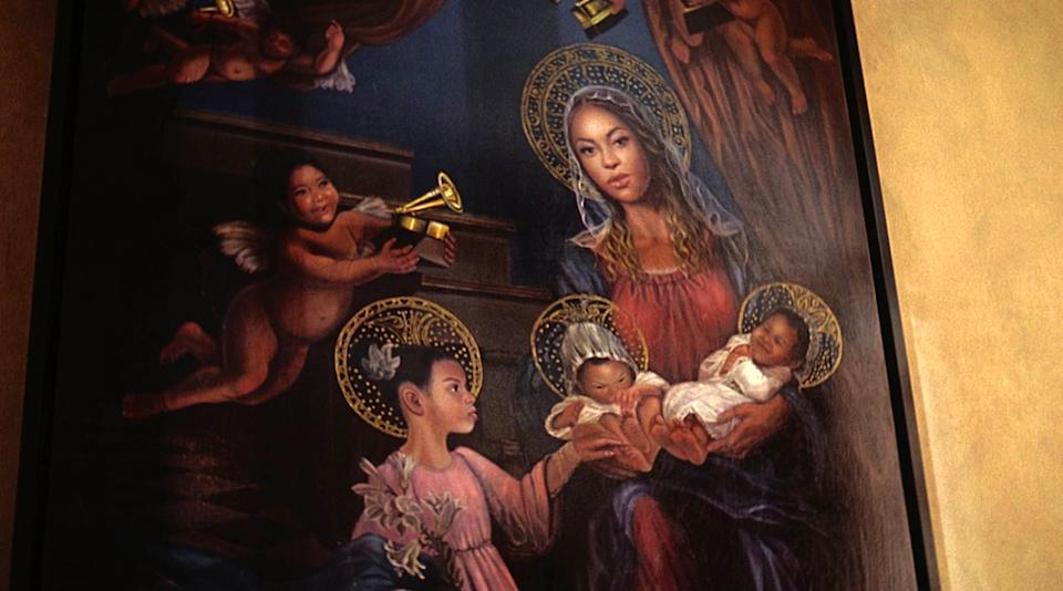 beyonce family painting black is king