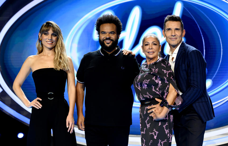 MADRID, SPAIN - OCTOBER 28: Edurne, Carlos Jean, Isabel Pantoja and Jesus Vazquez attend 'Idol Kids' Tv show presentation on October 28, 2019 in Madrid, Spain. (Photo by Samuel de Roman/WireImage)