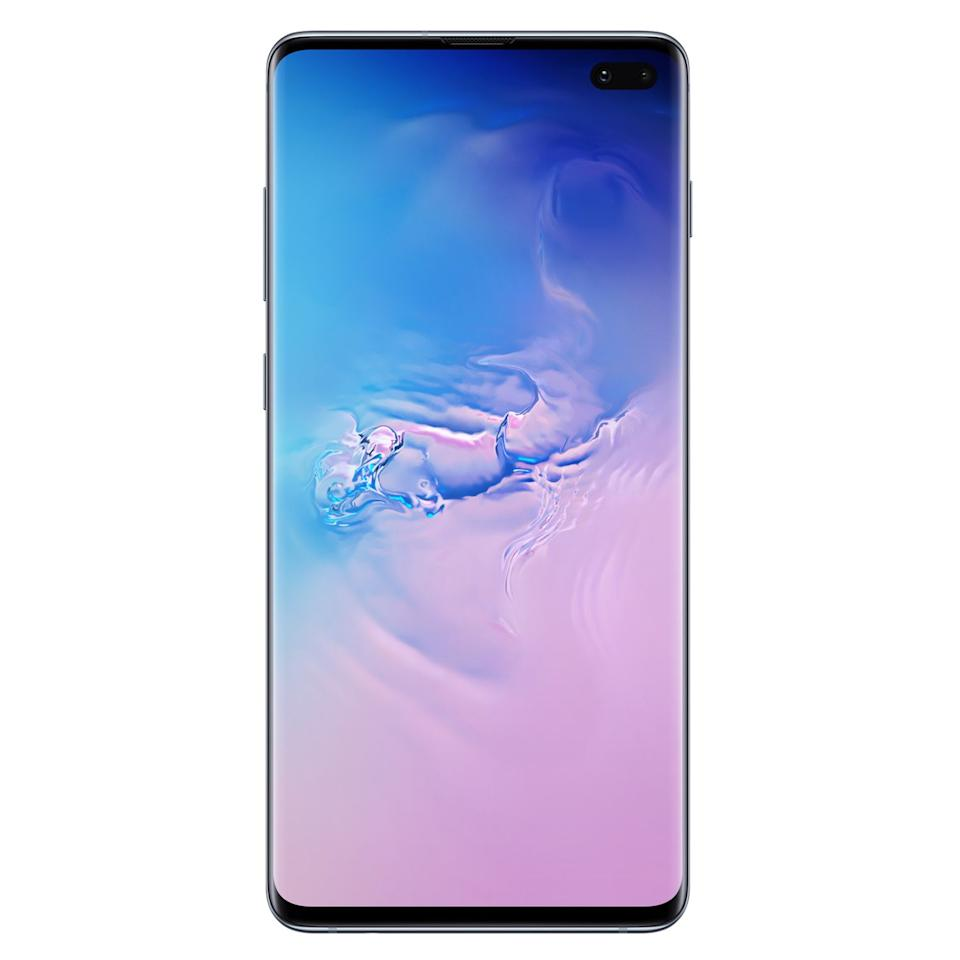 """<p><strong>Samsung</strong></p><p>amazon.com</p><p><strong>$967.97</strong></p><p><a href=""""http://www.amazon.com/dp/B07N4M7F9Q/?tag=syn-yahoo-20&ascsubtag=%5Bartid%7C2089.g.158%5Bsrc%7Cyahoo-us"""" target=""""_blank"""">Shop Now</a></p><p>The Samsung Galaxy S10+ has a striking design, an incredibly powerful chipset, a captivating Infinity Super AMOLED display with a fingerprint sensor underneath it, a total of five excellent built-in cameras (three rear-facing and two front-facing ones), and great battery life. It received rave reviews from the likes of <a href=""""https://www.cnet.com/reviews/samsung-galaxy-s10-plus-review/"""" target=""""_blank"""">CNET</a>, <a href=""""https://www.engadget.com/2019/03/04/samsung-galaxy-s10-review-with-camera-samples-fingerprint/"""" target=""""_blank"""">Engadget</a>, <a href=""""https://mashable.com/feature/samsung-galaxy-s10-plus-review/"""" target=""""_blank"""">Mashable</a>, and <a href=""""https://www.techradar.com/reviews/samsung-galaxy-s10-plus"""" target=""""_blank"""">TechRadar</a>, among many other publications. I <a href=""""https://www.bestproducts.com/tech/gadgets/a26589687/samsung-galaxy-s10-review/"""" target=""""_blank"""">liked it quite a lot</a> as well.</p><p>Samsung has equipped the Galaxy S10+ with the latest Qualcomm Snapdragon chipset. Paired with plenty of RAM, it's capable of performing any task without even a hint of hesitation. You can choose between variants with up to a whopping 1 TB of expandable storage. <br><br>The device's massive built-in battery supports fast wired and wireless charging. Best of all, the Galaxy S10+ also supports reverse wireless charging, allowing you to charge other compatible devices by simply touching its back. </p><p>In case you're looking for a more compact option, consider the <a href=""""https://www.samsung.com/us/mobile/galaxy-s10/buy/"""" target=""""_blank"""">Samsung Galaxy S10 instead</a>. Compared to the Galaxy S10+, it has a 6.1-inch display, one front-facing camera instead of two, and a smaller battery, all at a lower price point.<strong><br><"""