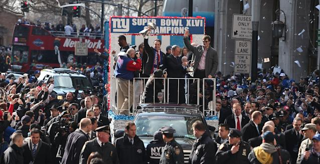 Eli Manning helped deliver two Super Bowl trophies to New York City. (Getty Images)