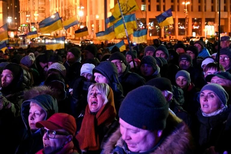 Thousands of Ukrainians marked the sixth anniversary of the start of protests of the Euromaidan rallies to demand closer European integration