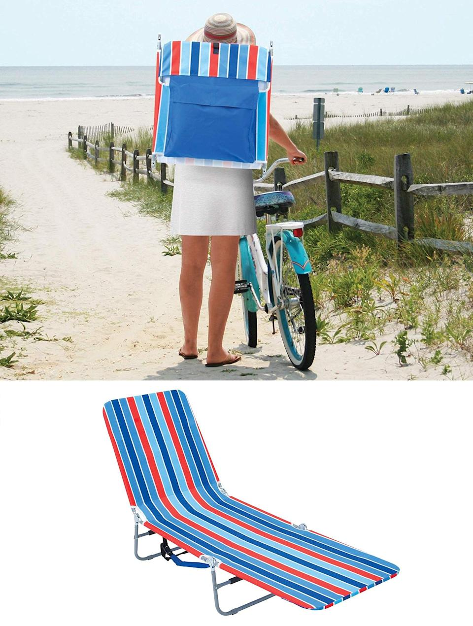 """<h3>Beach Backpack Lounge Chair</h3><br>This #1 New Release on Amazon is a fold-up and portable gift that moms will hail their functional summertime saviors.<br><br><strong>Rating: </strong>4 out of 5 stars, and 193 reviews<br><br><strong>A Satisfied Customer Review: </strong>""""Great for the beach! I brought a small neck pillow and it worked just fine. I love how portable and convenient this is! My favorite part of the chair is the pouch on the back. It's really very roomy! I was able to fit my neck pillow, magazines, beach towel, phone, and a drink in there. And the colors are very cute! Perfect chair for lounging at the beach. It was easy to position exactly how I wanted it to, and it dries off quickly after I sprayed the sand off when I was done.""""<br><br><strong>RIO Brands</strong> Portable Backpack Lounge Chair, $, available at <a href=""""https://www.amazon.com/dp/B010M67P40/ref=dp_prsubs_2"""" rel=""""nofollow noopener"""" target=""""_blank"""" data-ylk=""""slk:Amazon"""" class=""""link rapid-noclick-resp"""">Amazon</a>"""