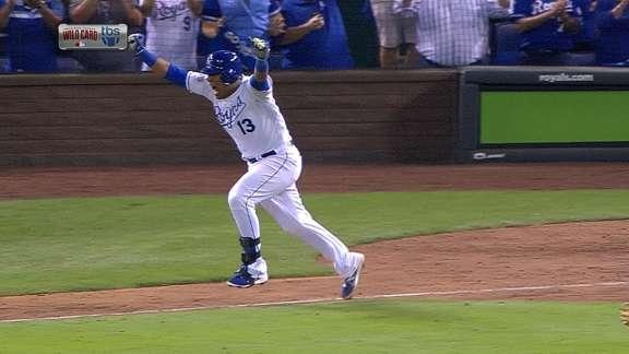 Royals rally past A's in epic 12-inning AL wild-card game