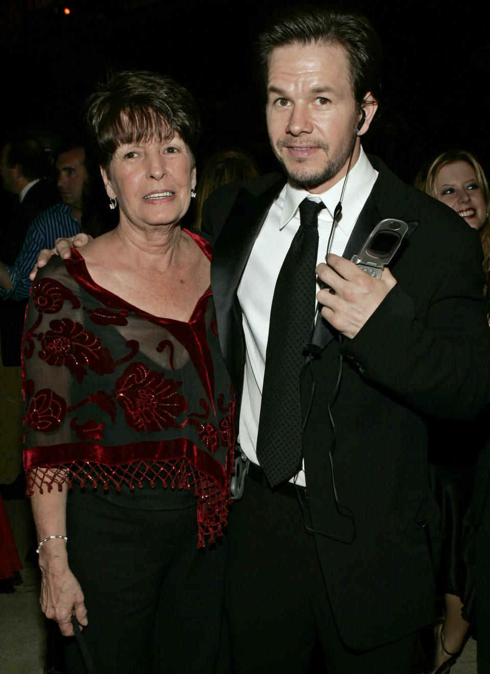 "FILE - In this Sunday, Jan. 16, 2005, file photo, Mark Wahlberg, executive producer of the HBO series ""Entourage,"" and his mother Alma pose at the HBO party after the 62nd Annual Golden Globe Awards, in Beverly Hills, Calif. Alma Wahlberg, the mother of entertainers Mark and Donnie Wahlberg and a regular on their reality series ""Wahlburgers"", has died, her sons said on social media Sunday, April 18, 2021. She was 78. ""My angel. Rest in peace,"" Mark Wahlberg tweeted. (AP Photo/Lisa Rose, File)"