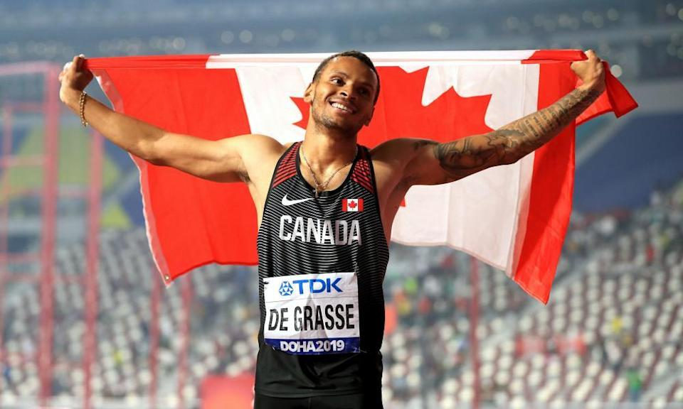 Canada's Andre De Grasse could be in the running for a medal