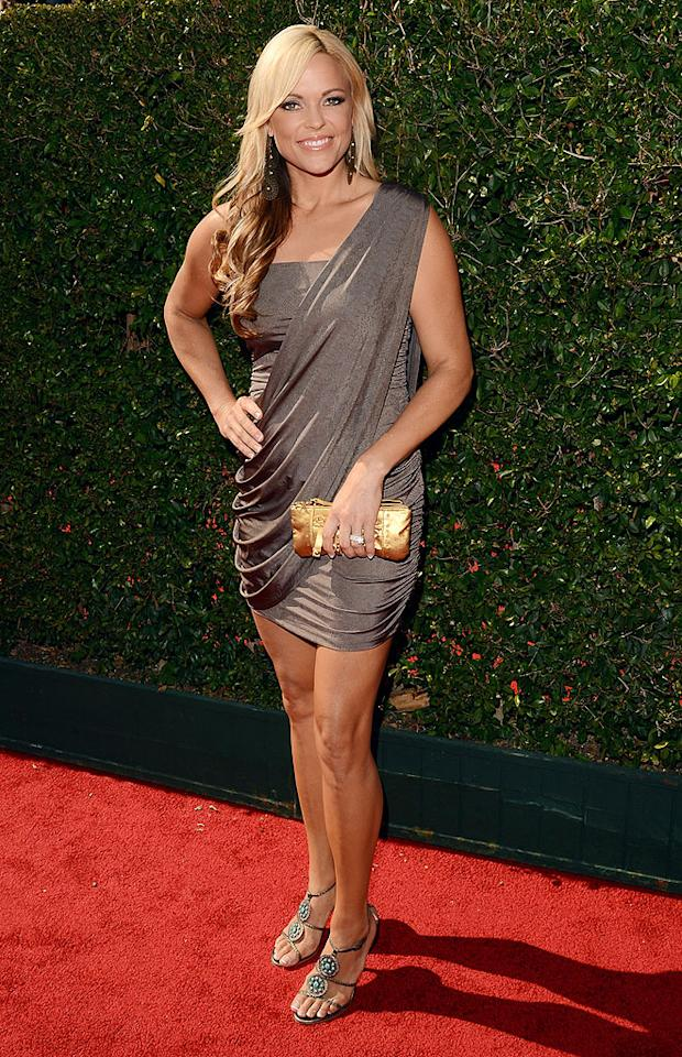 "<p class=""MsoNormal"">Jennie Finch, former pitcher for the USA national softball team, arrives at the 2012 ESPY Awards.</p>"